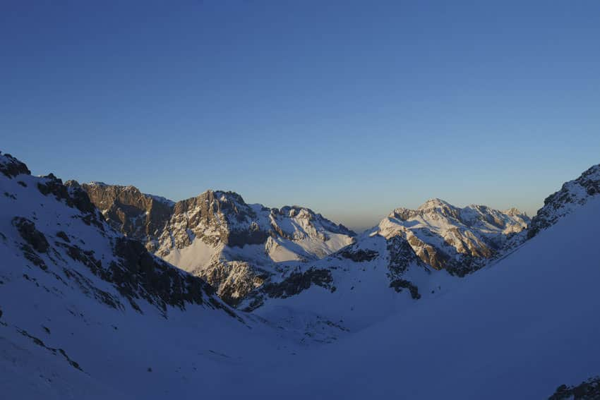 Bergauf-Bergab - Blick vom Tajatoerl auf das Zugspitzmassiv