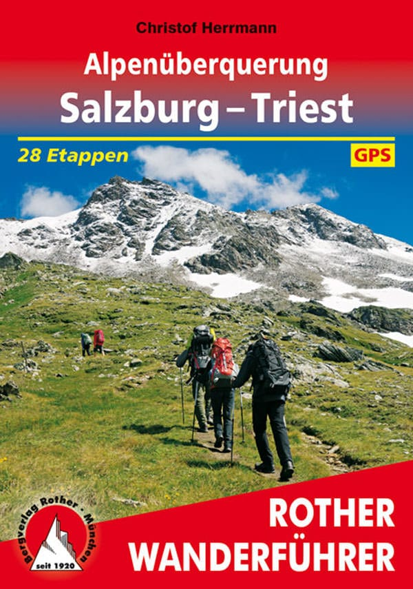 Rother Wanderfuehrer Salzburg - Triest - Cover