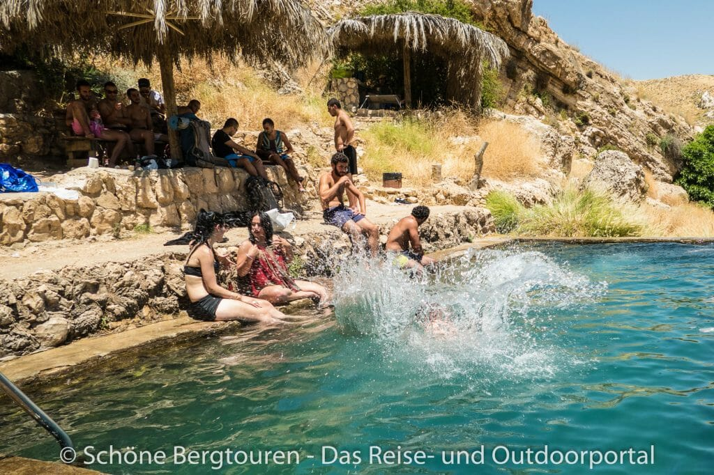Israel - Badebecken an der Fara-Quelle