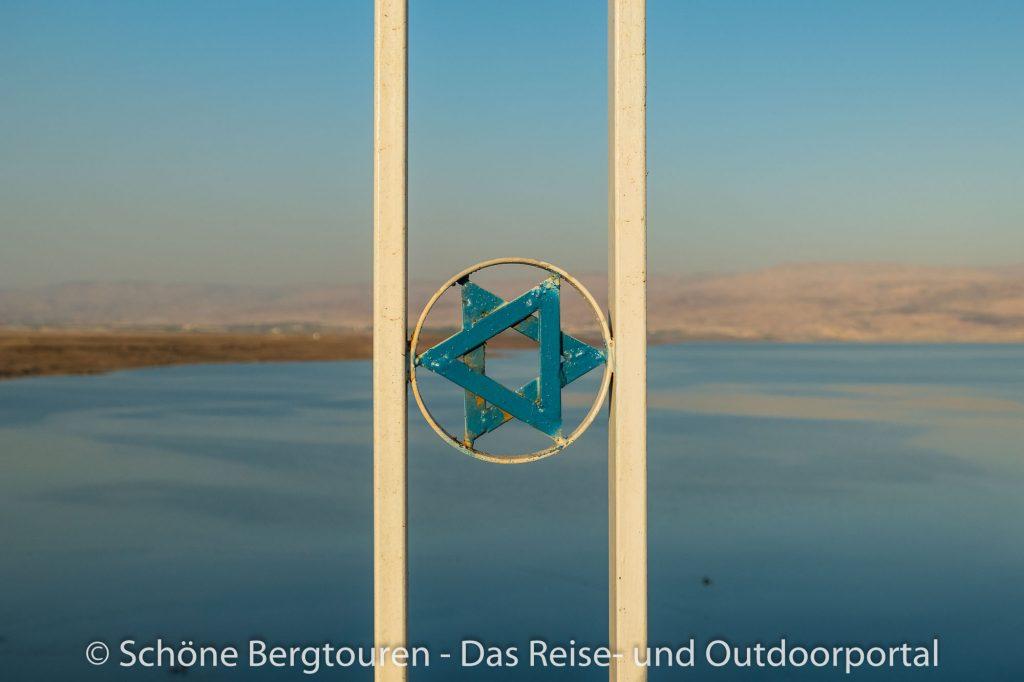 Israel - Davidstern vor dem Toten Meer