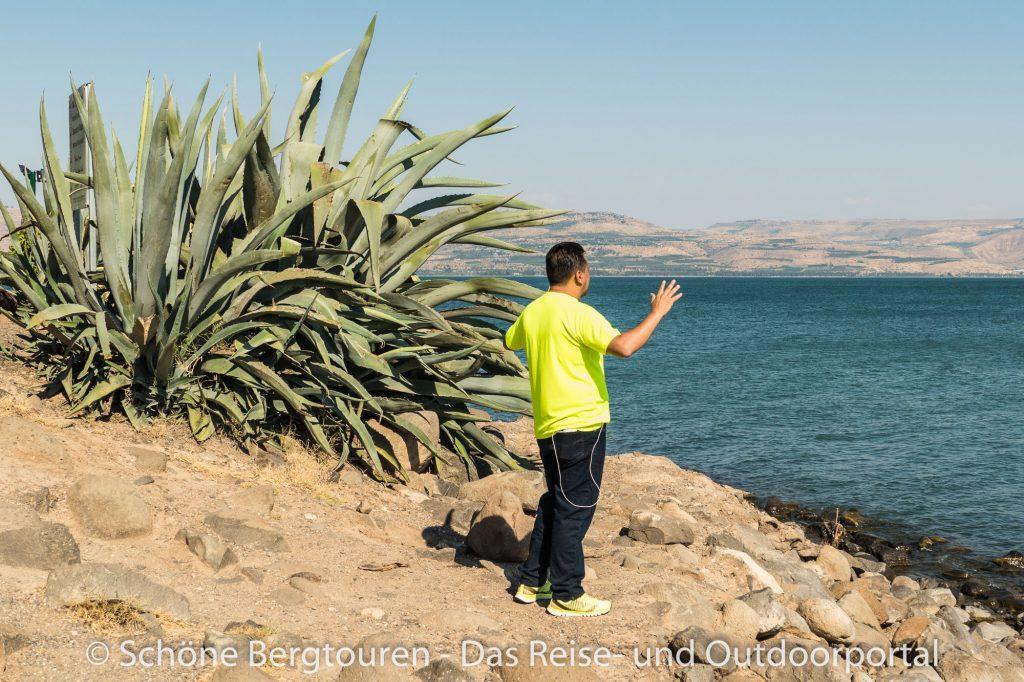 Israel - Gebet am See Genezareth