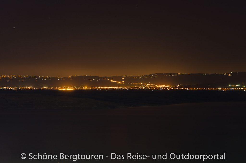 Israel - Totes Meer bei Nacht