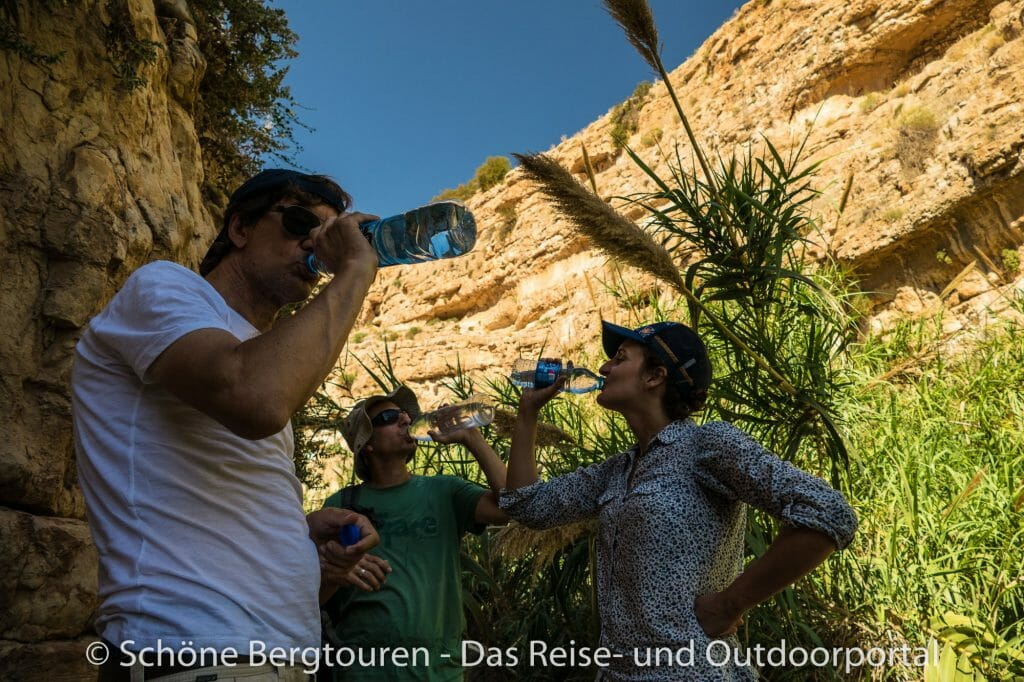 Israel - Trinkpause im Wadi Qelt