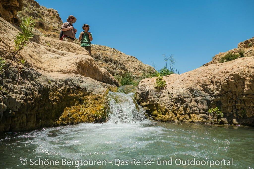 Israel - Wasserfaelle im Wadi Qelt