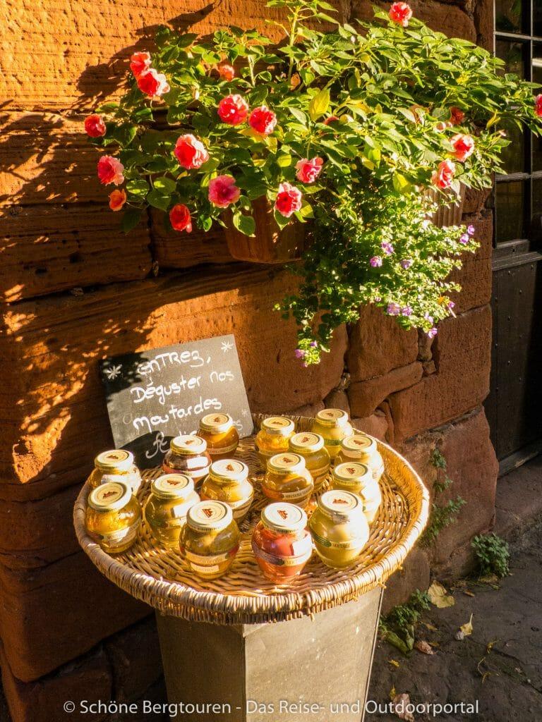 Limousin - Senfsorten in Collonges-la-Rouge