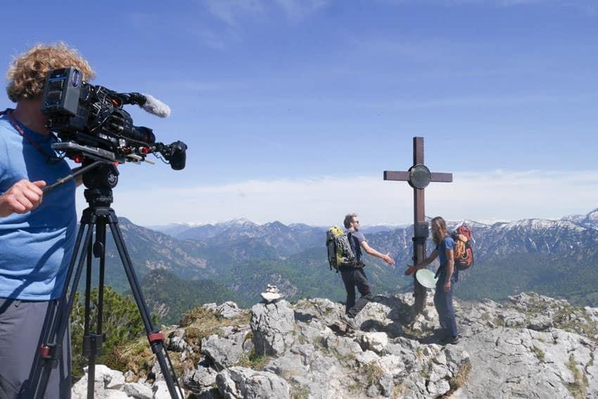 Bergauf-Bergab - Kurz vor dem Buchstein-Gipfel
