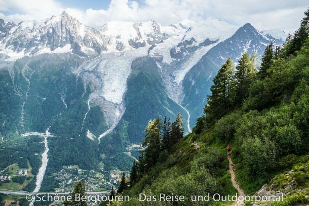 Chamomix - Abstieg mit Panorama