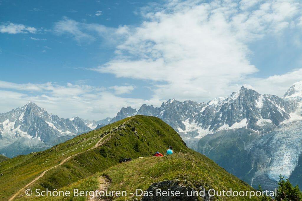 Chamonix - Blick auf das Mont Blanc Massiv