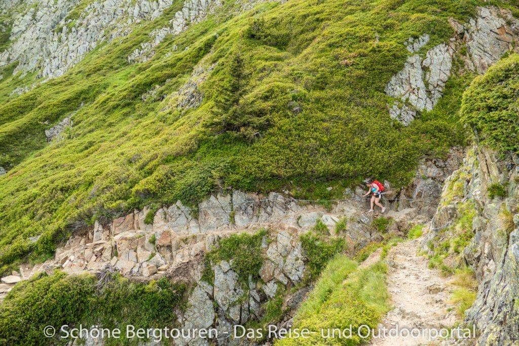 Chamonix - Gesicherte Wegpassagen