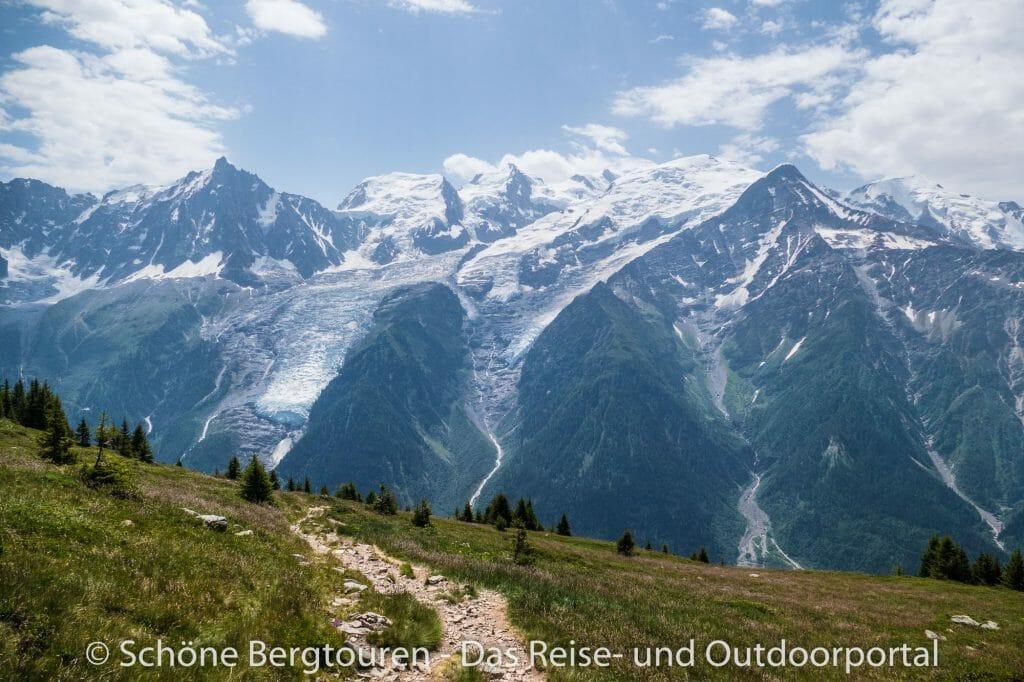 Chamonix - Rueckblick beim Aufstieg
