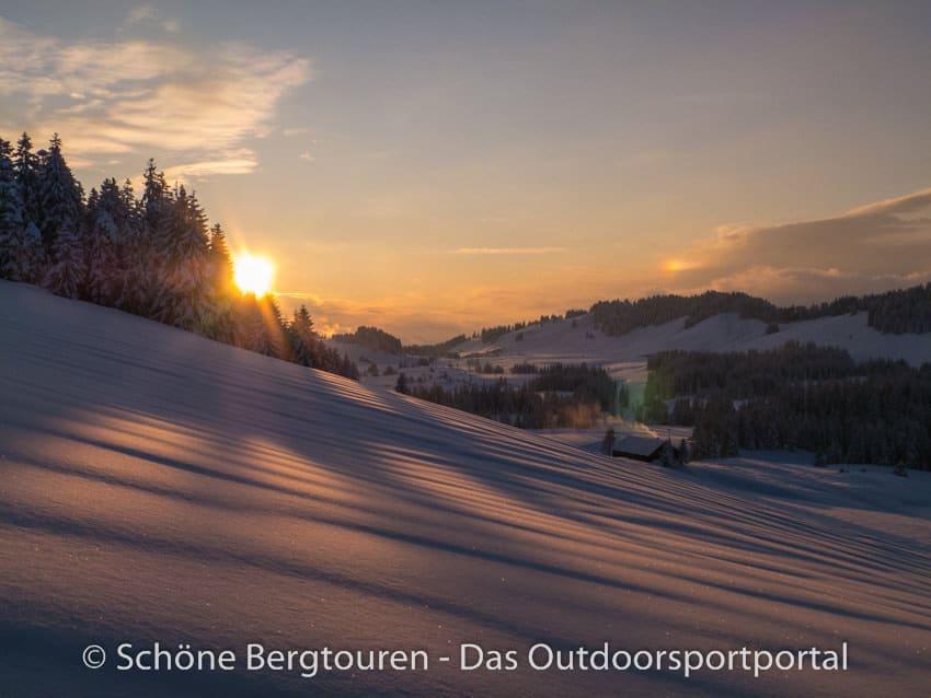 Winterabend in Deutschland