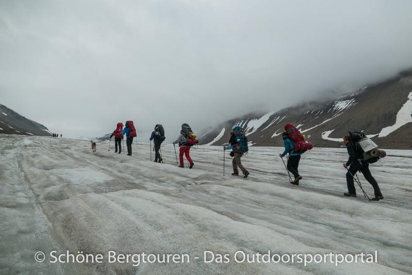 Spitzbergen - Auf dem Longyearbreen