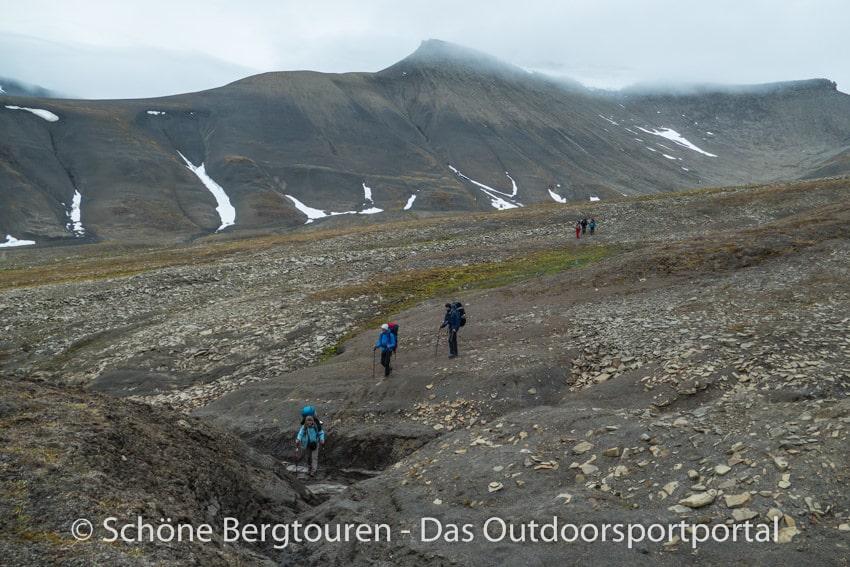 Spitzbergen - Abstieg ins Fardalen