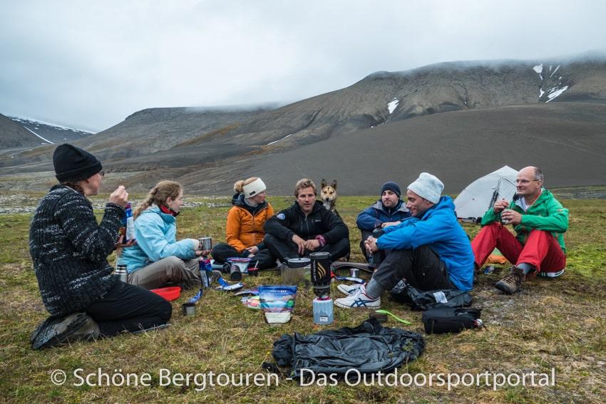 Spitzbergen - Erstes Abendcamp