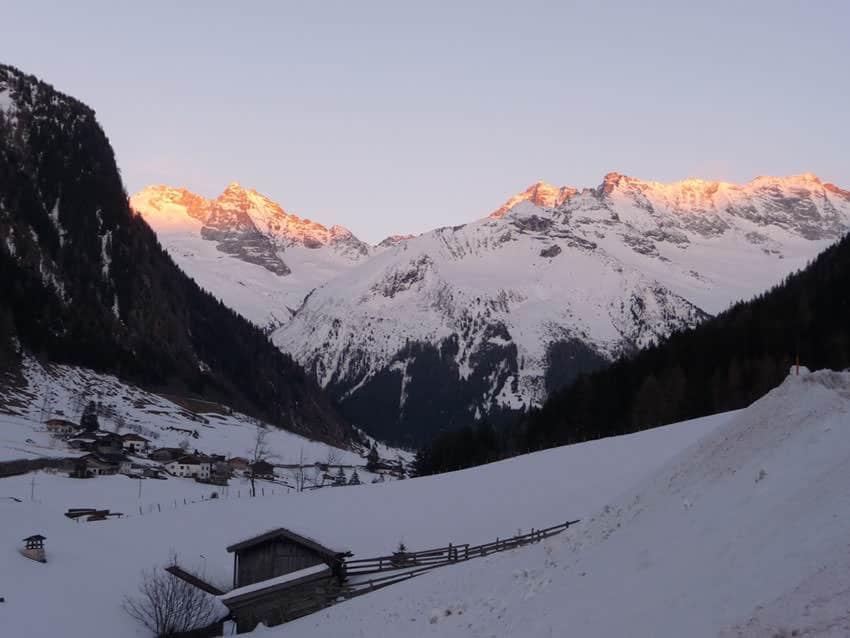 BergaufBergab - Olperer und Fussstein im Abendlicht
