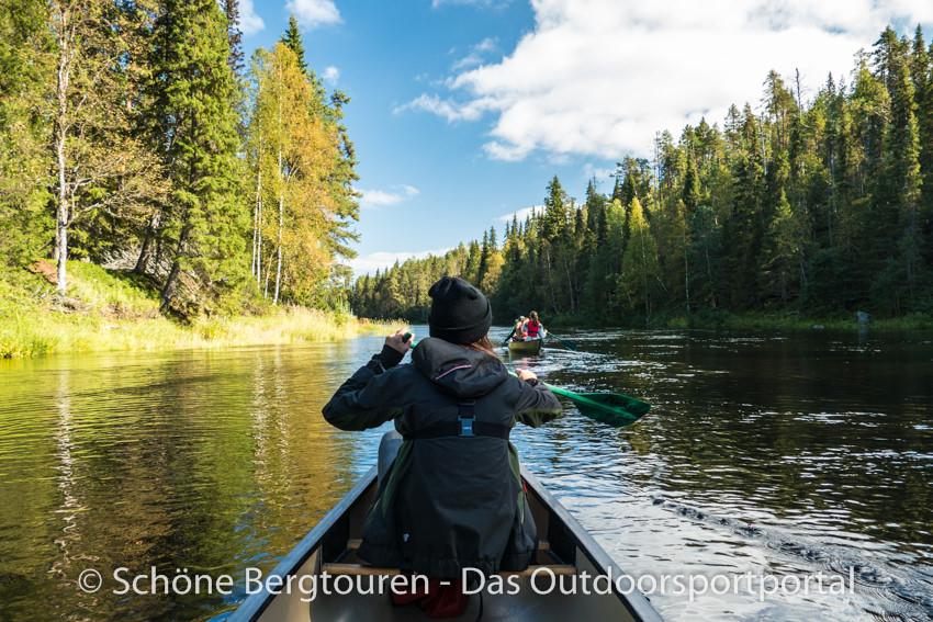 Finnland - Kanu auf dem Oulankajoki