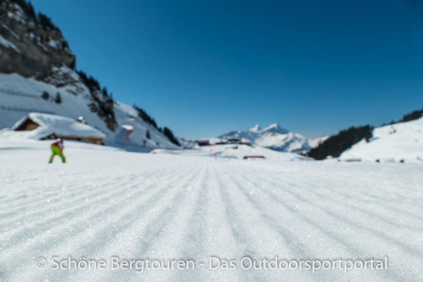 Skifahren - Skipiste im Haslital