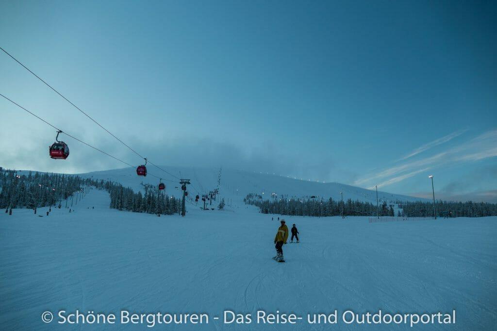 Skigebiet Ylläs - Bessere Sicht
