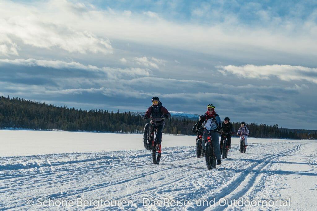 Skigebiet Ylläs - Fatbike fahren