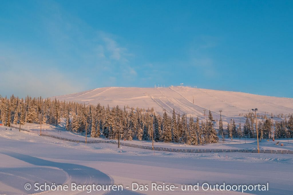 Skigebiet Ylläs - Morgensonne