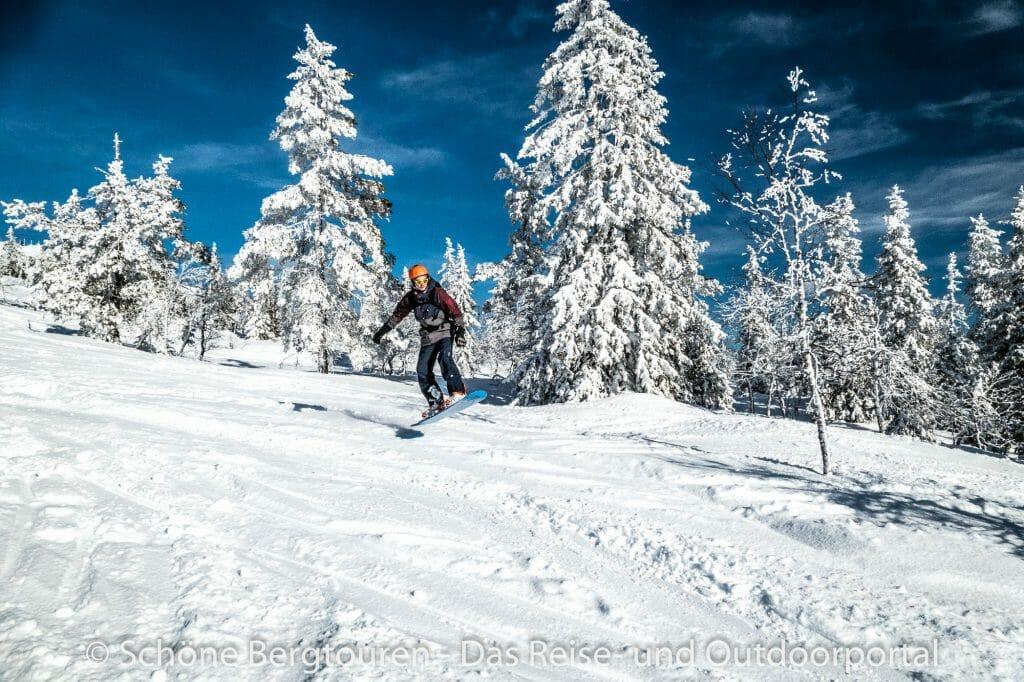 Skigebiet Ylläs - Snowboarden