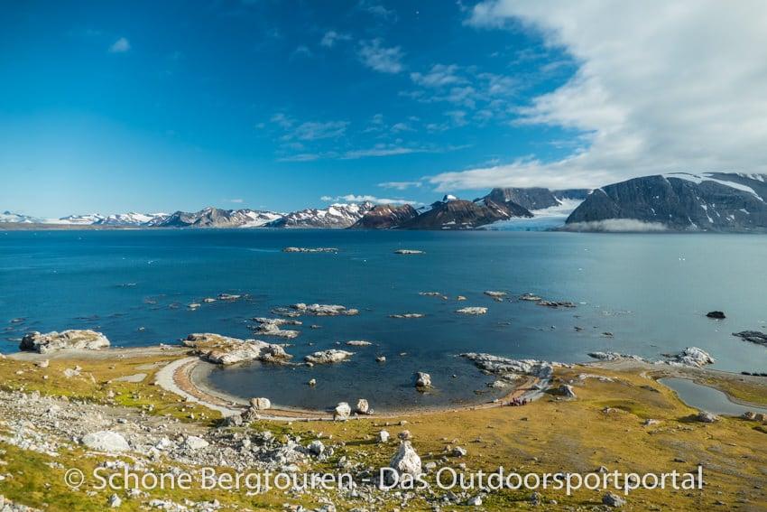 Spitzbergen - Aussicht beim Vogelfelsen Gnalodden