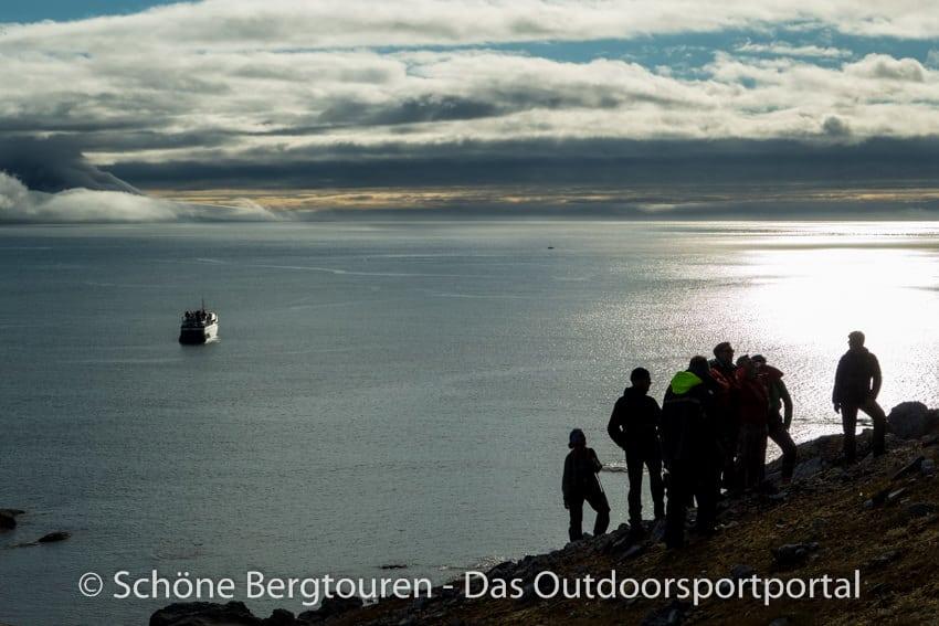 Spitzbergen - Ausflug zum Vogelfelsen Gnalodden