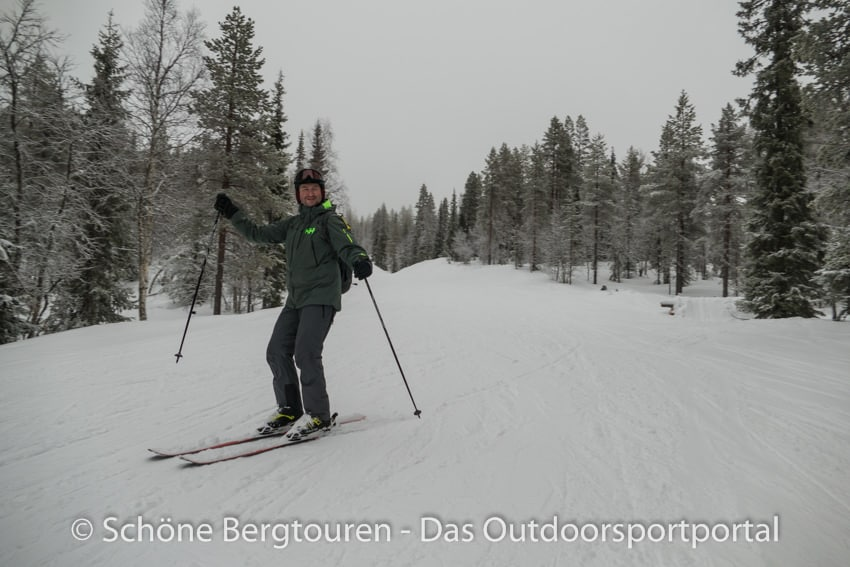 Levi in Lappland - Skifahren