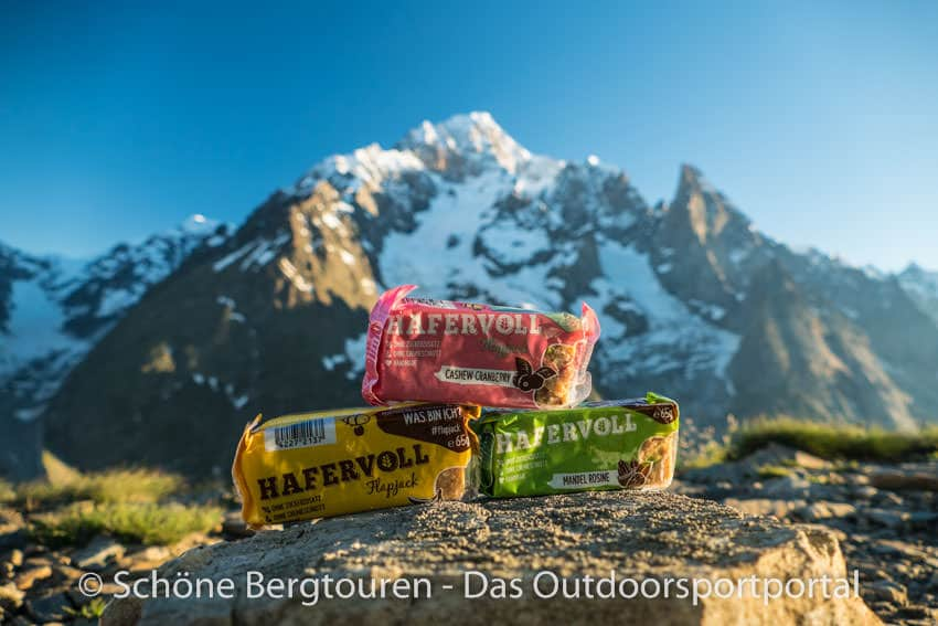 Hafervoll - Flapjack mit Mont Blanc Panorama