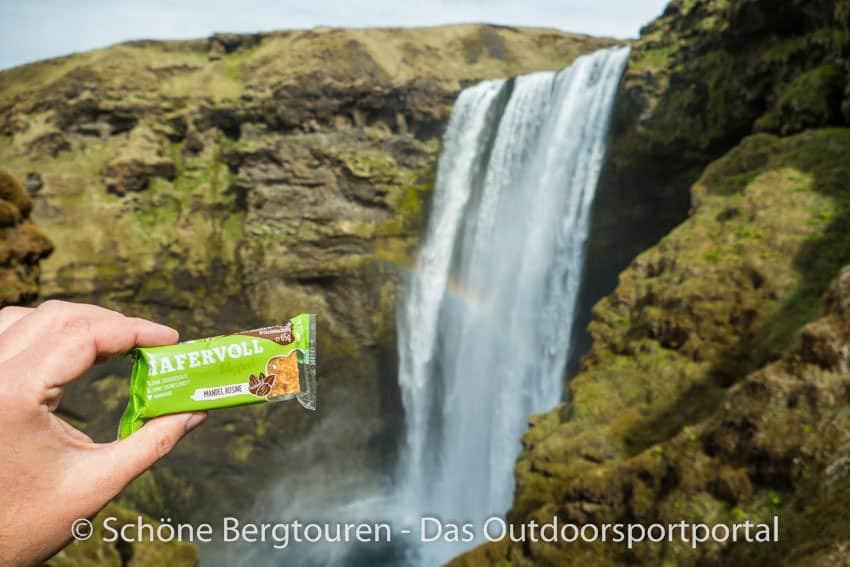Hafervoll - Flapjacks am Wasserfall