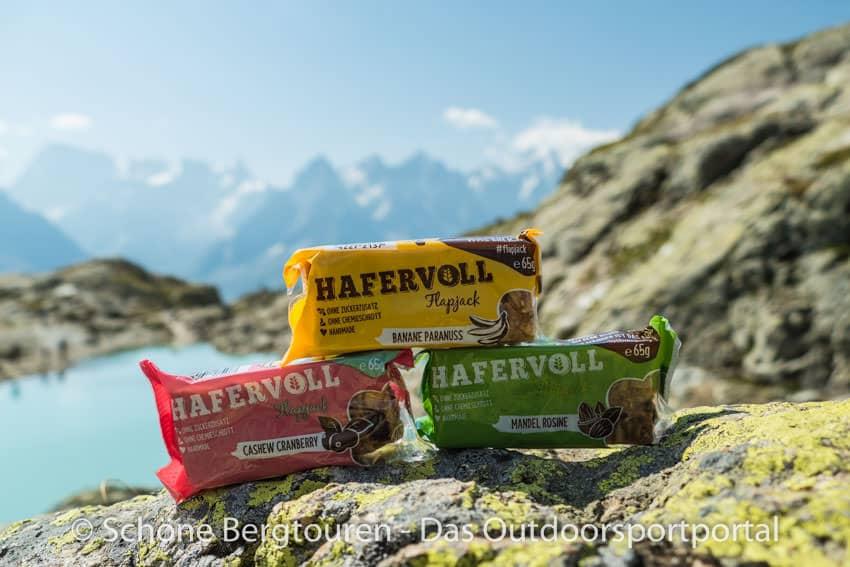 Hafervoll - Flapjacks in franzoesische Alpen