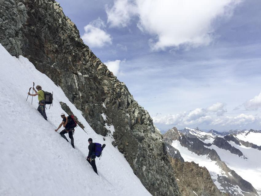BergaufBergab - Gipfelflanke der Ruderhofspitze