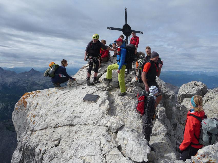 BergaufBergab - Gipfelkreuz an der Mittelspitze