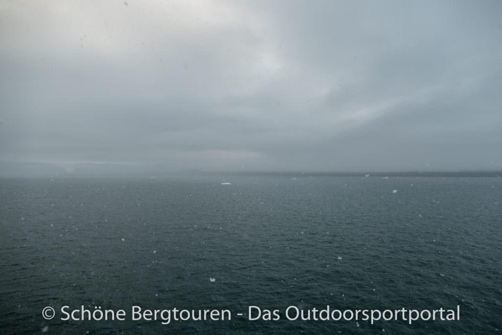 Spitzbergen - Schneefall