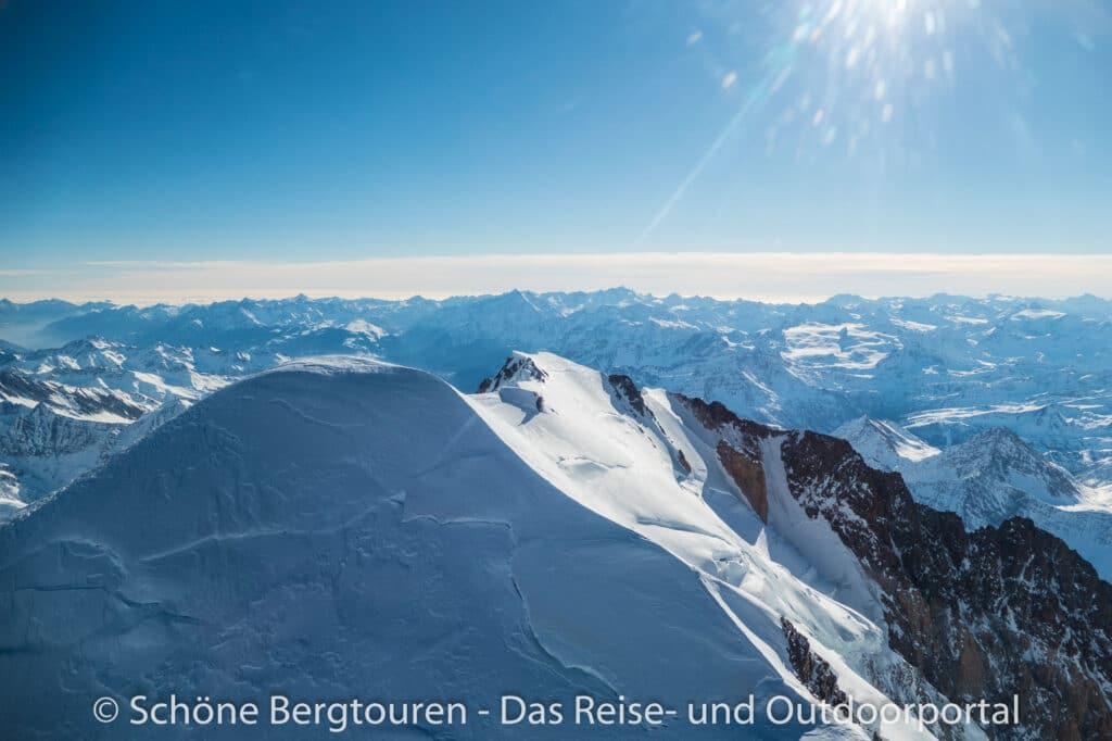 Mont Blanc Rundflug - Gipfel des Mont Blanc