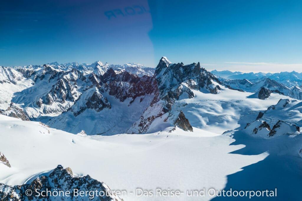 Mont Blanc Rundflug - Geant Gletscher