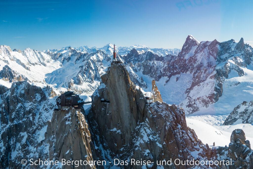 Mont Blanc Rundflug - Aiguille du Midi