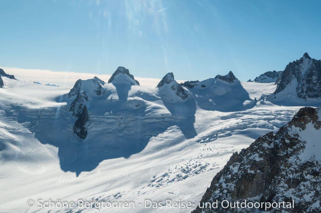 Mont Blanc Rundflug - Vallee Blanche