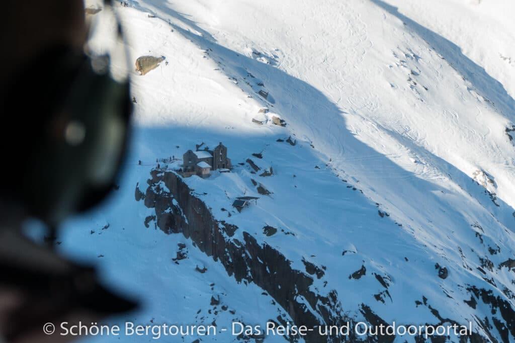 Mont Blanc Rundflug - Refuge du Requin