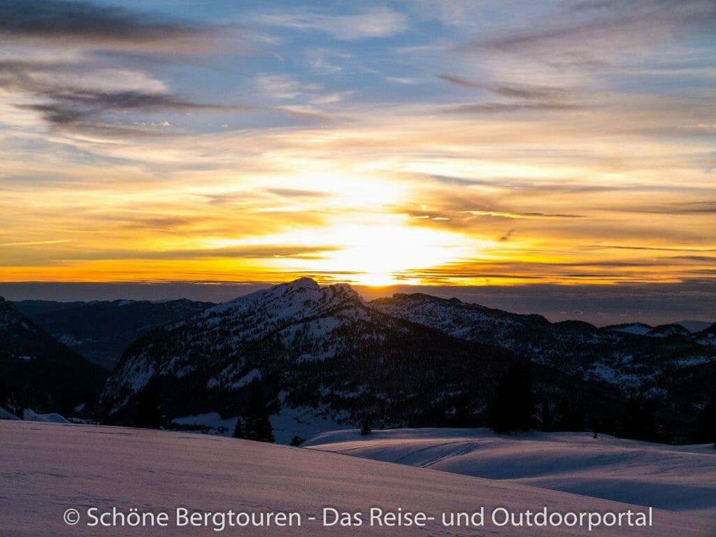 Montagne des Auges - Sonnenuntergang