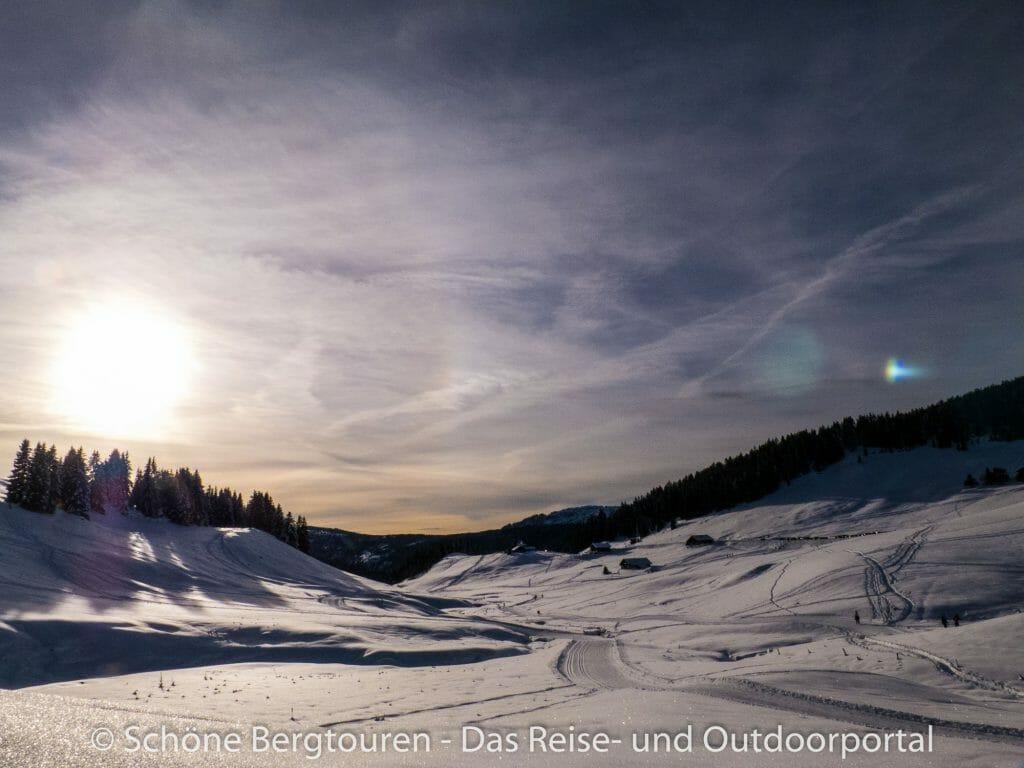 Plateau des Glieres - Langlaufpisten am Spätnachmittag
