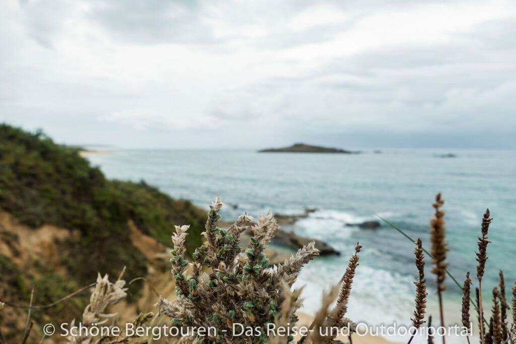 Rota Vicentina - Blick zu Forte da Ilha