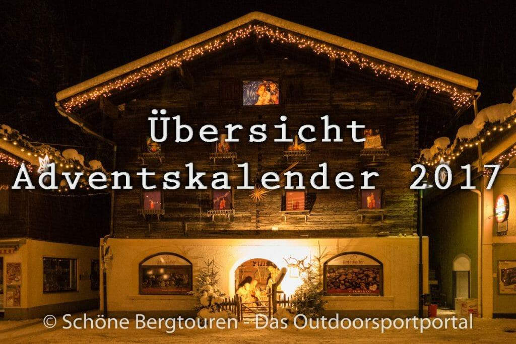Uebersicht Adventskalender 2017