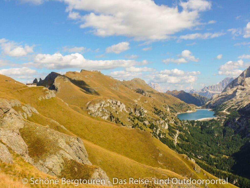 Dolomiten - Bindelweghuette und Feidaiasee
