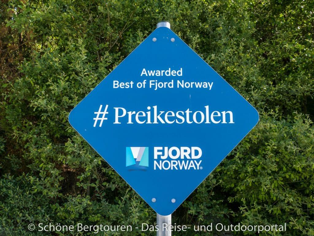 Fjord Norwegen - Hashtag Preikestolen