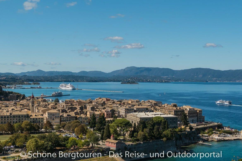 Korfu Stadt - Ausblick Alte Festung