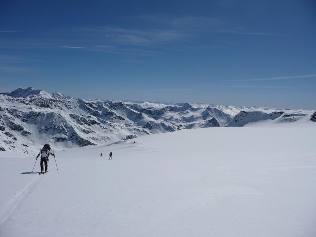 BergaufBergab - Aufstieg am Muttergletscher Vedretta de la Mare