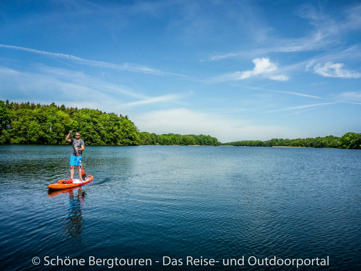 Stand Up Paddling - Flacher See