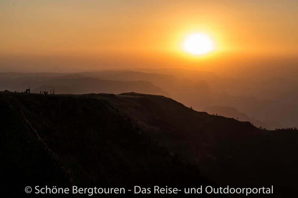Aethiopien - Abenddaemmerung in den Simien Mountains