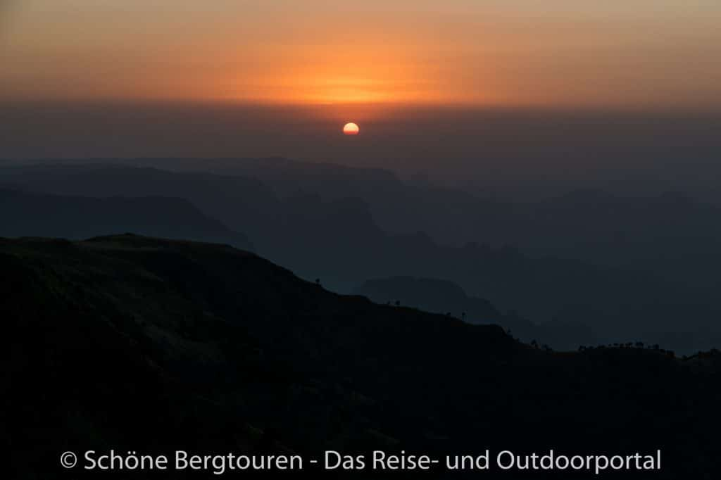 Aethiopien - Sonnenuntergang in den Simien Mountains